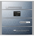 Banners set Abstract floral business background vector image