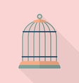 Bird cage flat icon vector image