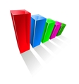 Chart with colorful glowing vertical columns vector image