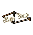 Color vintage bike shop emblem vector image