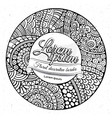 decorative hand drawn circle frame vector image