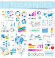 infographics set blue vector image