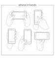 phone in hands vector image