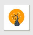 simple cute tree shape concept vector image