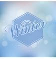 Stylish Winter seasonal card design vector image