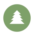 fir-tree flat icon vector image
