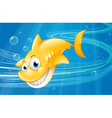 Smiling Yellow Shark vector image