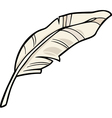 Feather clip art cartoon vector image