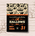 Vintage hand drawn Halloween invitation vector image vector image