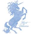 beautiful prance unicorn logo template vector image