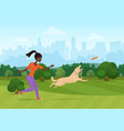 african woman throwing vector image