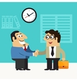 Business life hire scene vector image