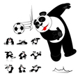 Panda Soccer Style vector image