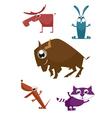 Cartoon funny animals vector image