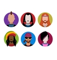 Male characters avatars vector image vector image