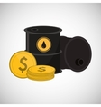 Petroleum design economy and oil industry vector image