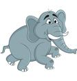 Funny elephants cartoon vector image