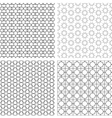 Four delicate seamless patterns in arabian style vector image