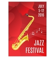 Jazz Music Poster vector image