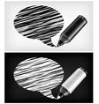 scribbled speech shapes grayscale felt tip pen v vector image vector image