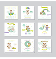 Baby Shower Card Arrival Baby Baby Dog Boy Set vector image