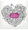 Be my Valentine Drawing Greeting card vector image