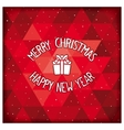 Christmas holiday card design vector image