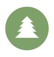 fir-tree flat icon vector image