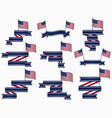 ribbons and american flag isolated vector image