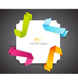 Set of colored ribbons in corner vector image