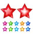 Set of crystal stars vector image