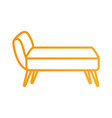 sofa divan or couch elegant furniture icon style vector image