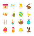 spring easter objects vector image