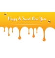 honey drips with Shana Tova Greetings  Rosh vector image