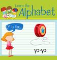 Flashcard letter Y is for yo-yo vector image