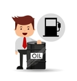 businessman oil industry station gasoline vector image