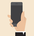 Hand with Smart Phone vector image