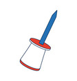 push pin object school element icon vector image