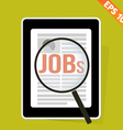 Magnifier Enlarges job on Tablet - - EPS10 vector image