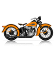 highly detailed classic motorcycle vector image