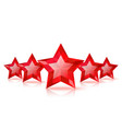 Five red stars vector image
