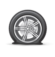 flat tire vector image vector image