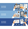 Business banners in flat style design vector image
