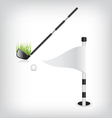 Golf stick and flag vector image vector image