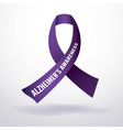 Alzheimers Ribbon vector image