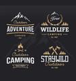 Outdoor Retro Emblems vector image vector image