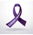 Alzheimers Ribbon vector image