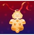 Angel-bell Blue-red background vector image