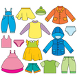 childrens clothing vector image