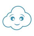 kawaii cloud icon vector image